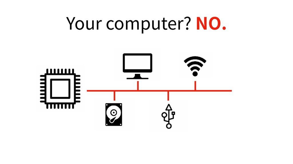 Your computer? NO.
