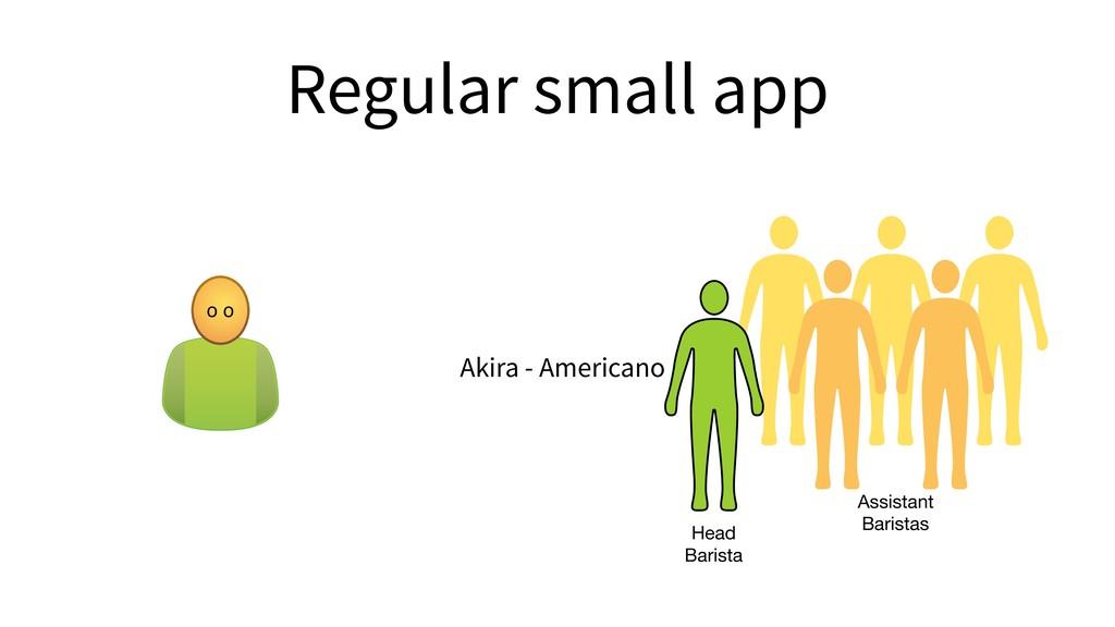 Regular small app o o Akira - Americano Head B...