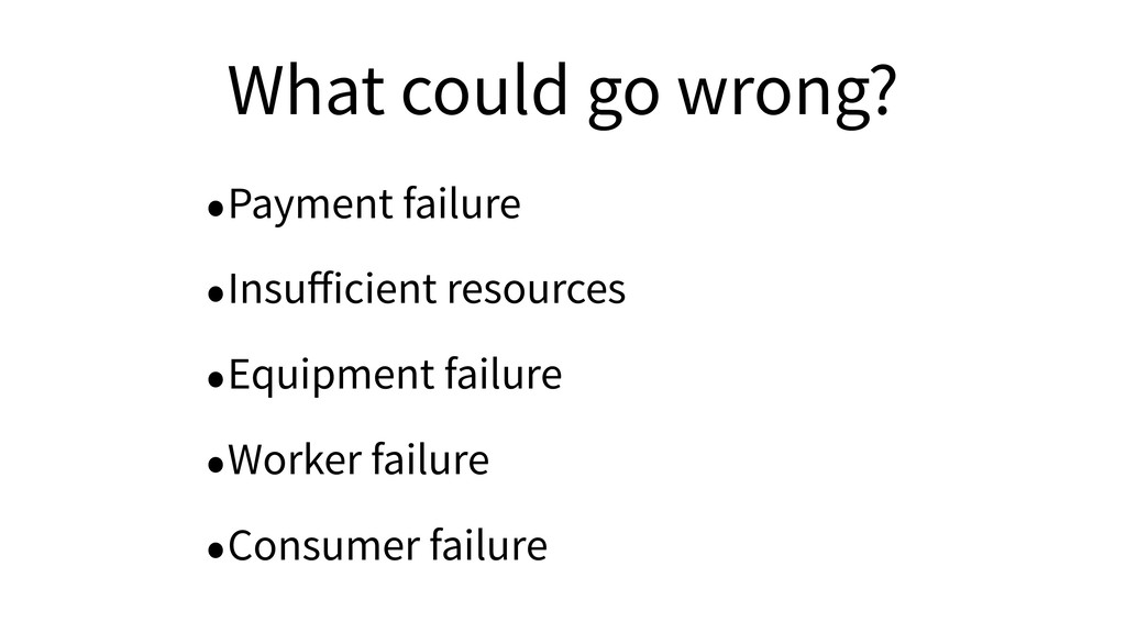 What could go wrong? •Payment failure •Insufficie...