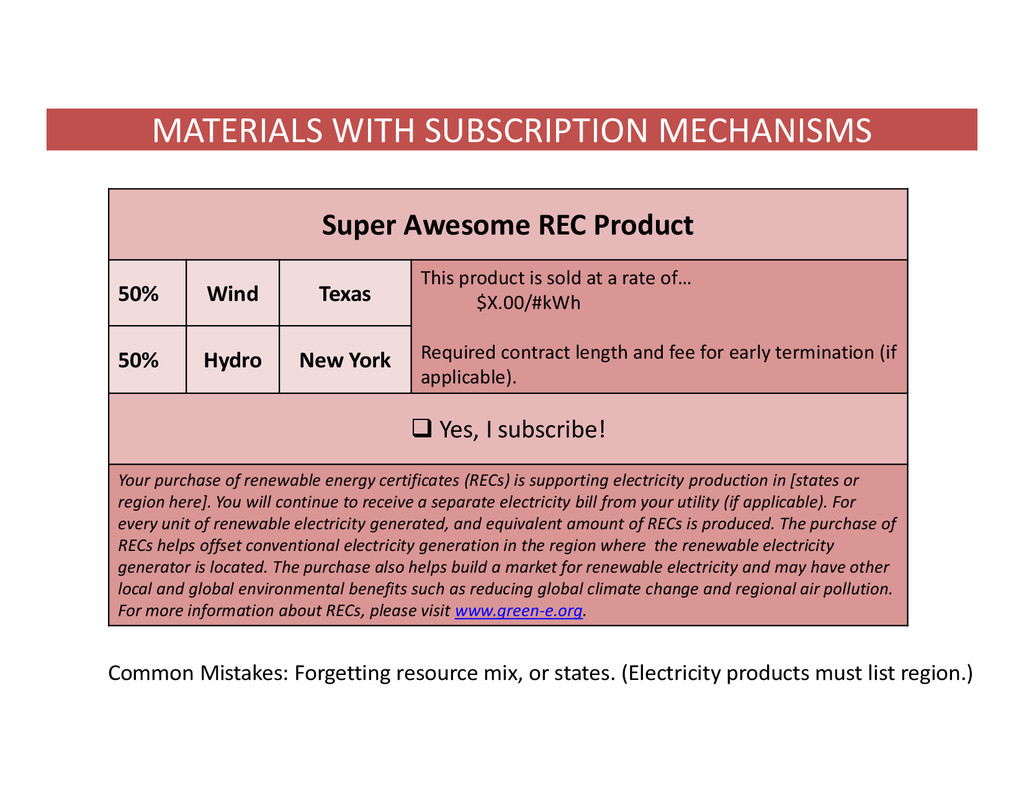MATERIALS WITH SUBSCRIPTION MECHANISMS Common M...