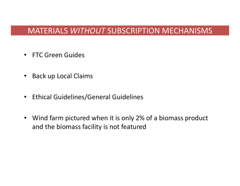 MATERIALS WITHOUT SUBSCRIPTION MECHANISMS • FTC...