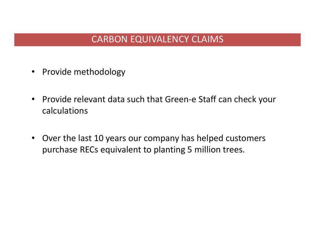 • Provide methodology • Provide relevant data s...