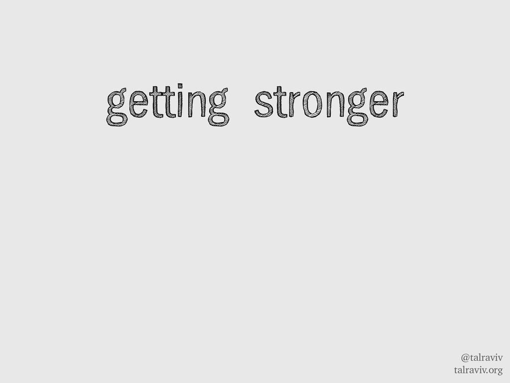 @talraviv talraviv.org getting stronger