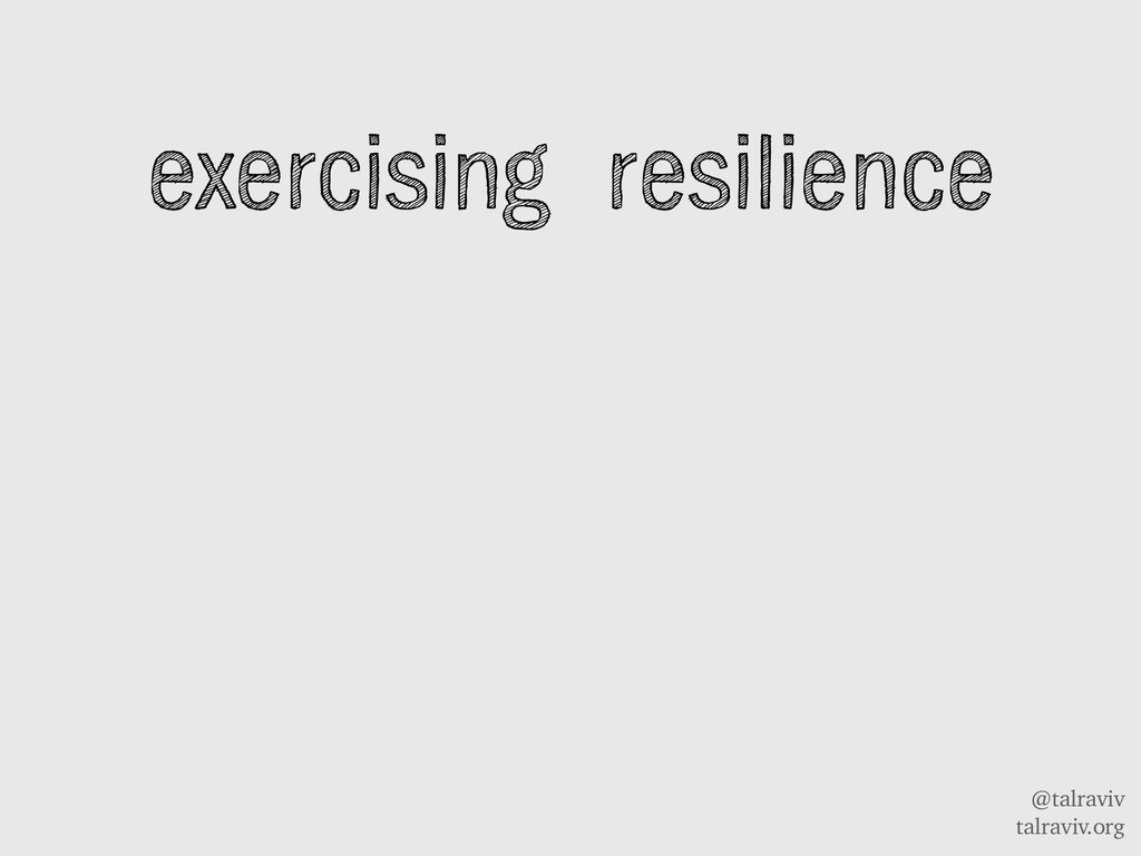 @talraviv talraviv.org exercising resilience