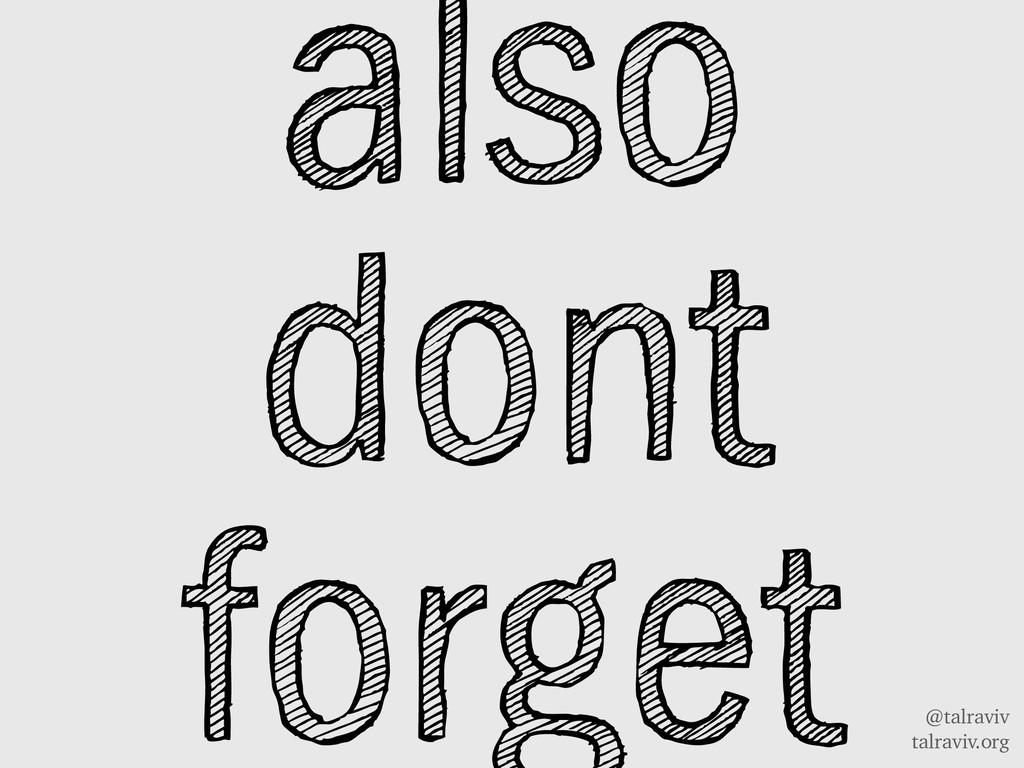 @talraviv talraviv.org also dont forget