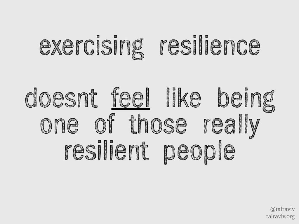 @talraviv talraviv.org exercising resilience do...