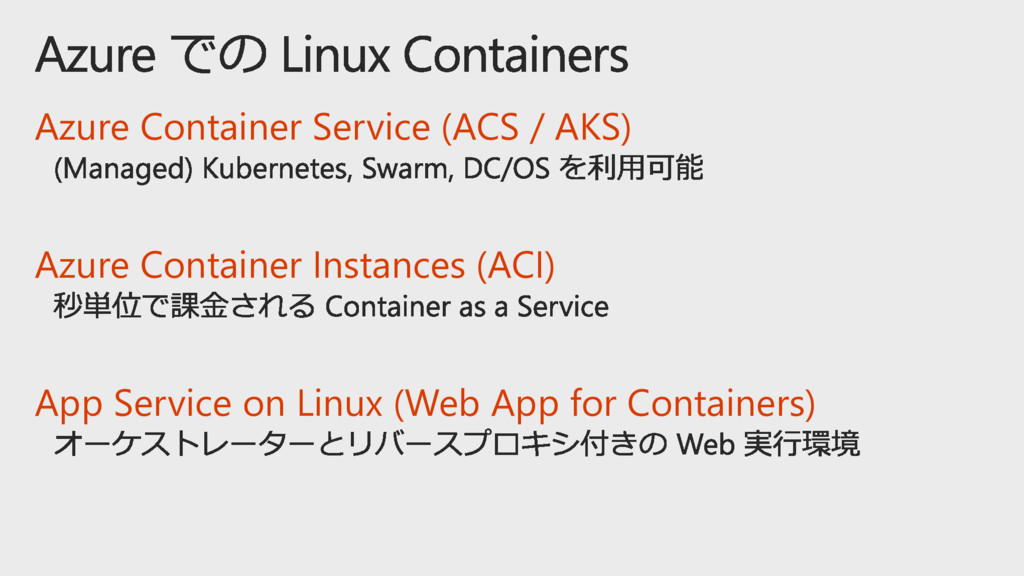Azure Container Service (ACS / AKS) Azure Conta...