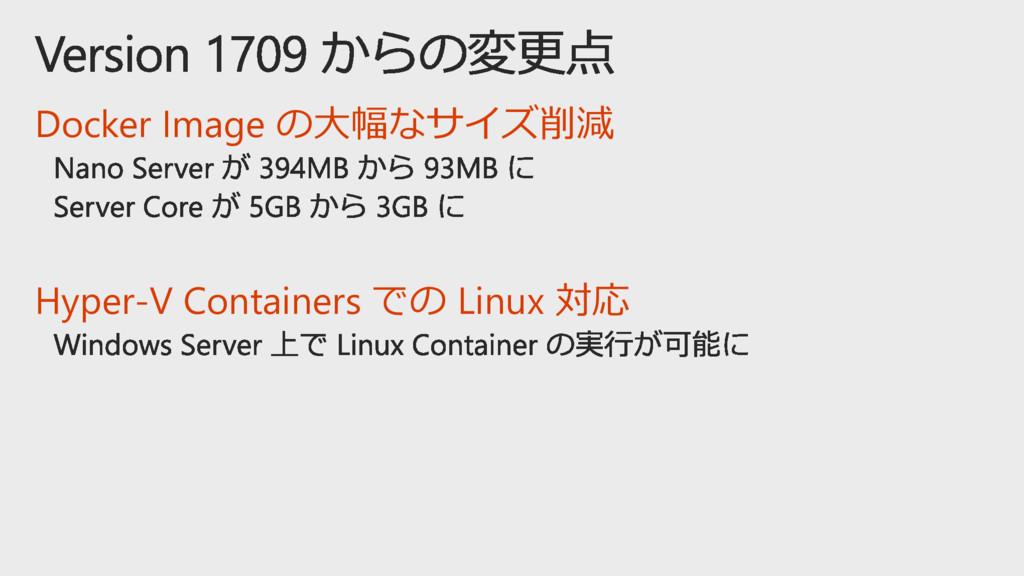 Docker Image の大幅なサイズ削減 Hyper-V Containers での Li...