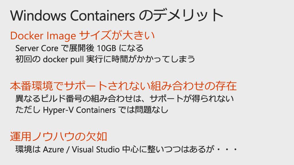 Docker Image サイズが大きい 本番環境でサポートされない組み合わせの存在 運用ノウ...