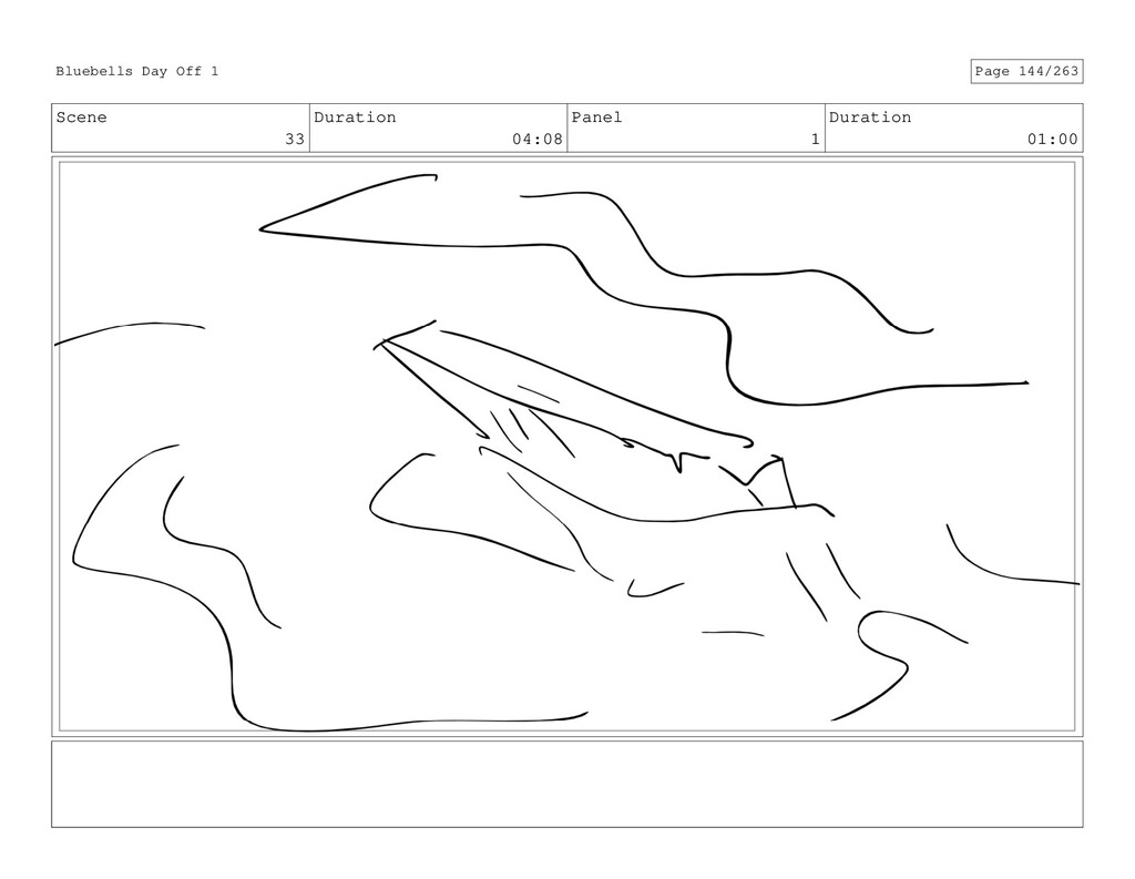 Scene 33 Duration 04:08 Panel 1 Duration 01:00 ...