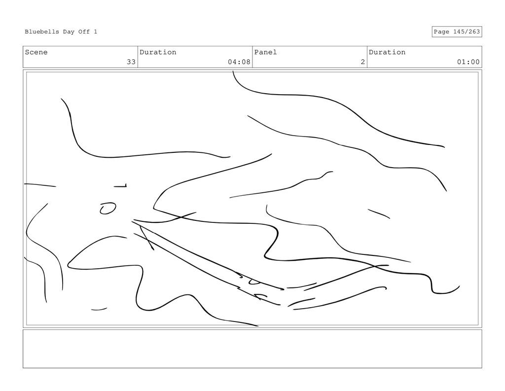 Scene 33 Duration 04:08 Panel 2 Duration 01:00 ...