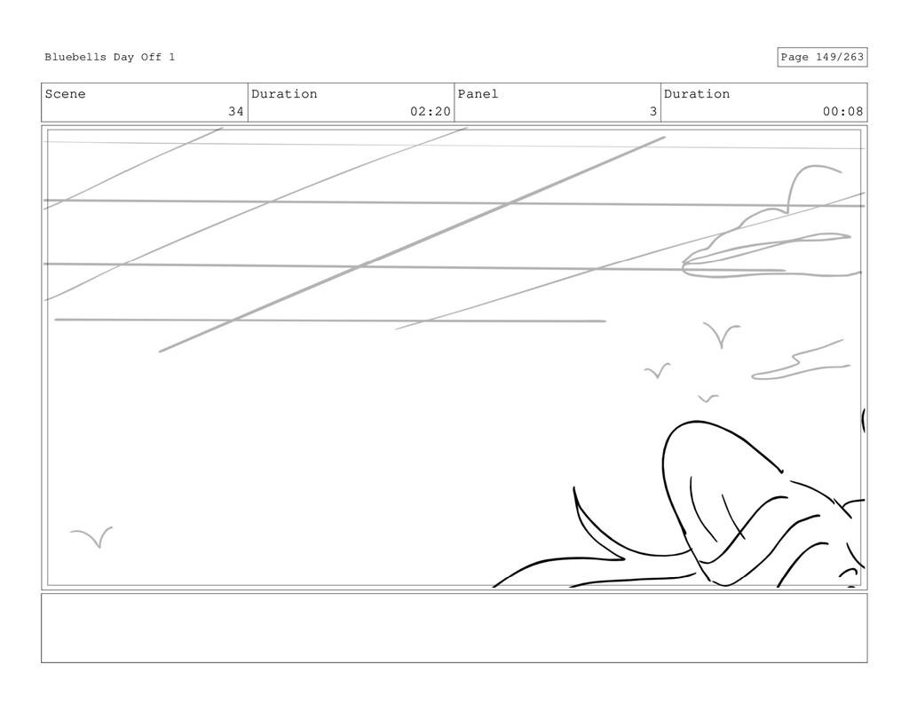 Scene 34 Duration 02:20 Panel 3 Duration 00:08 ...