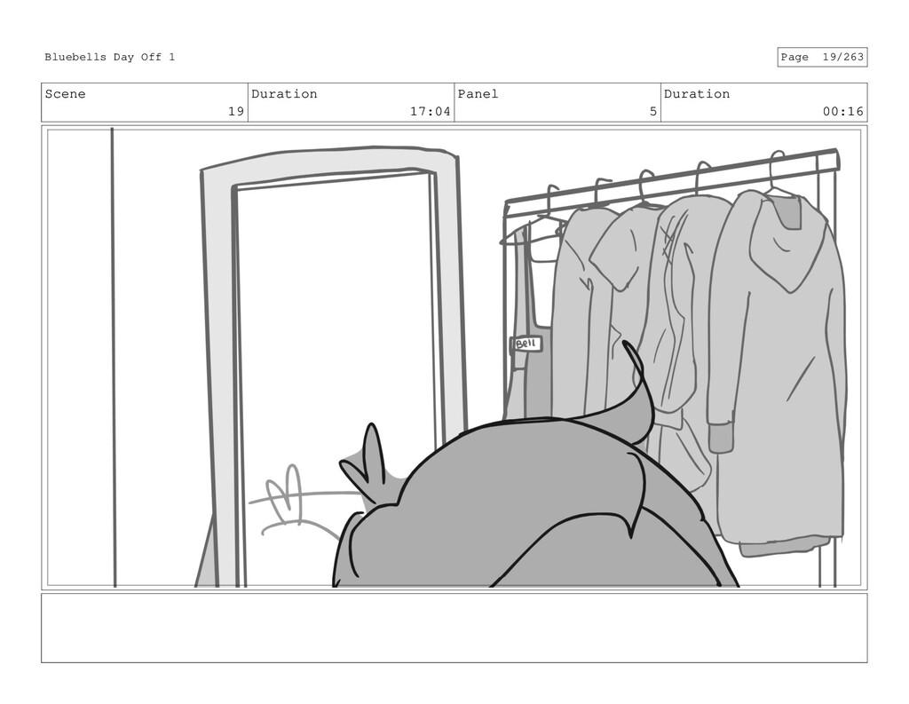 Scene 19 Duration 17:04 Panel 5 Duration 00:16 ...