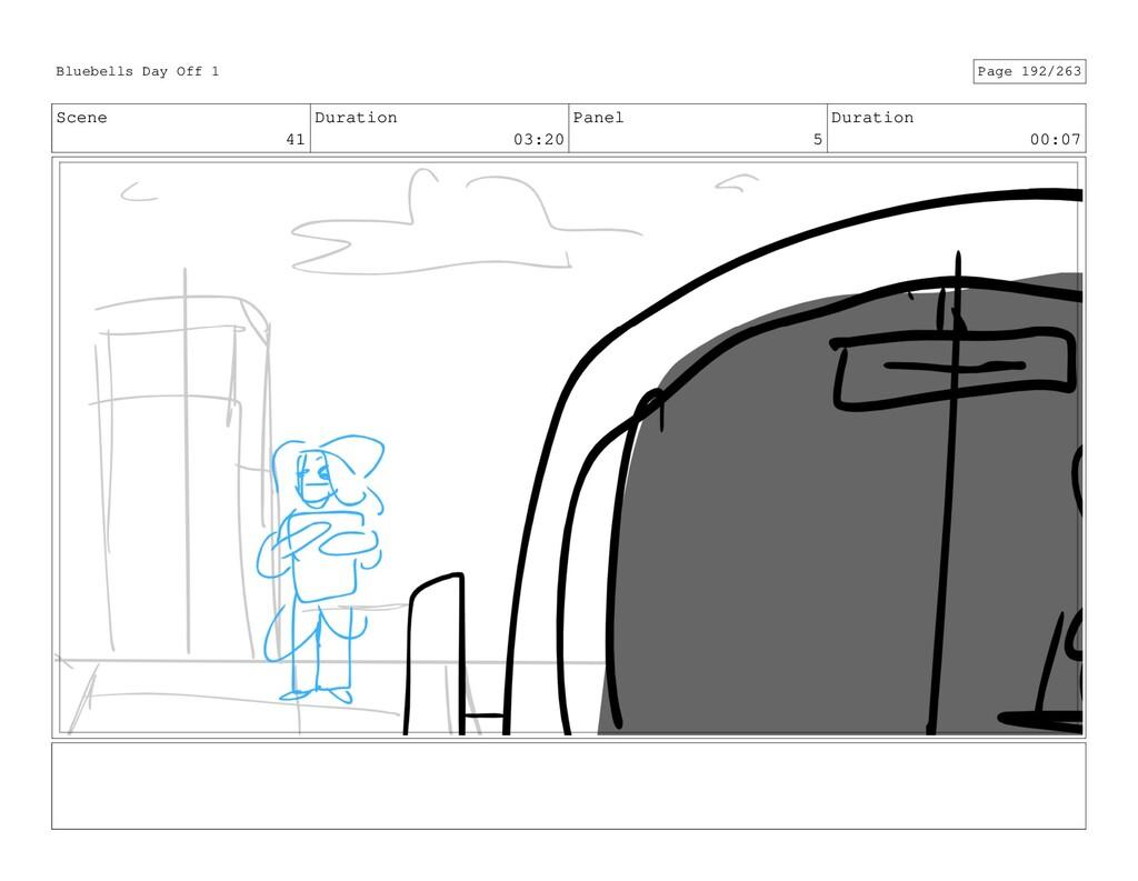 Scene 41 Duration 03:20 Panel 5 Duration 00:07 ...