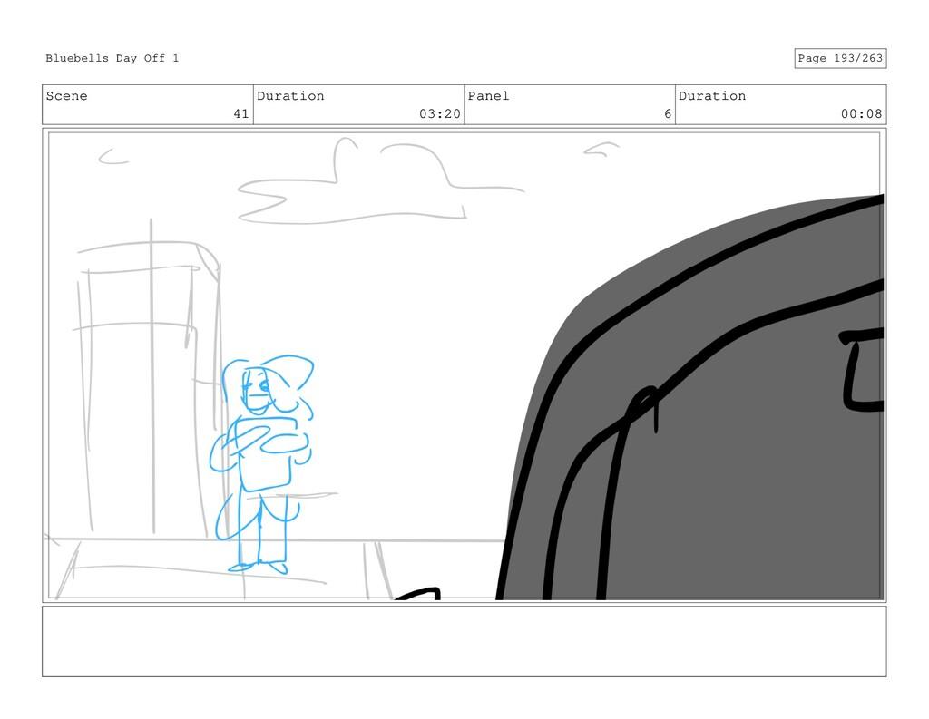 Scene 41 Duration 03:20 Panel 6 Duration 00:08 ...
