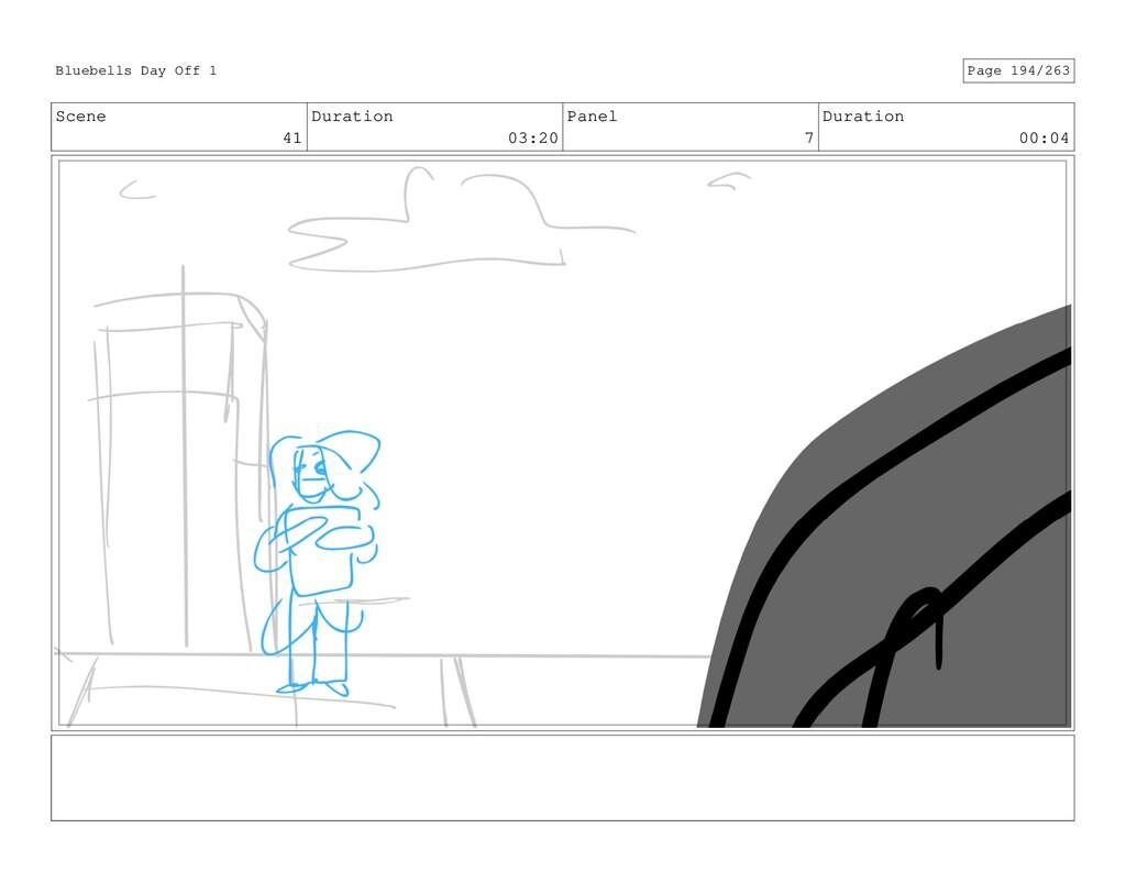 Scene 41 Duration 03:20 Panel 7 Duration 00:04 ...