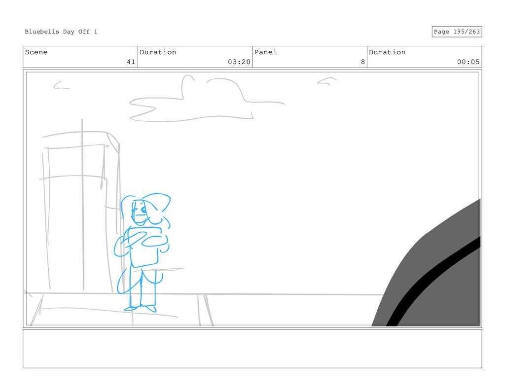 Scene 41 Duration 03:20 Panel 8 Duration 00:05 ...