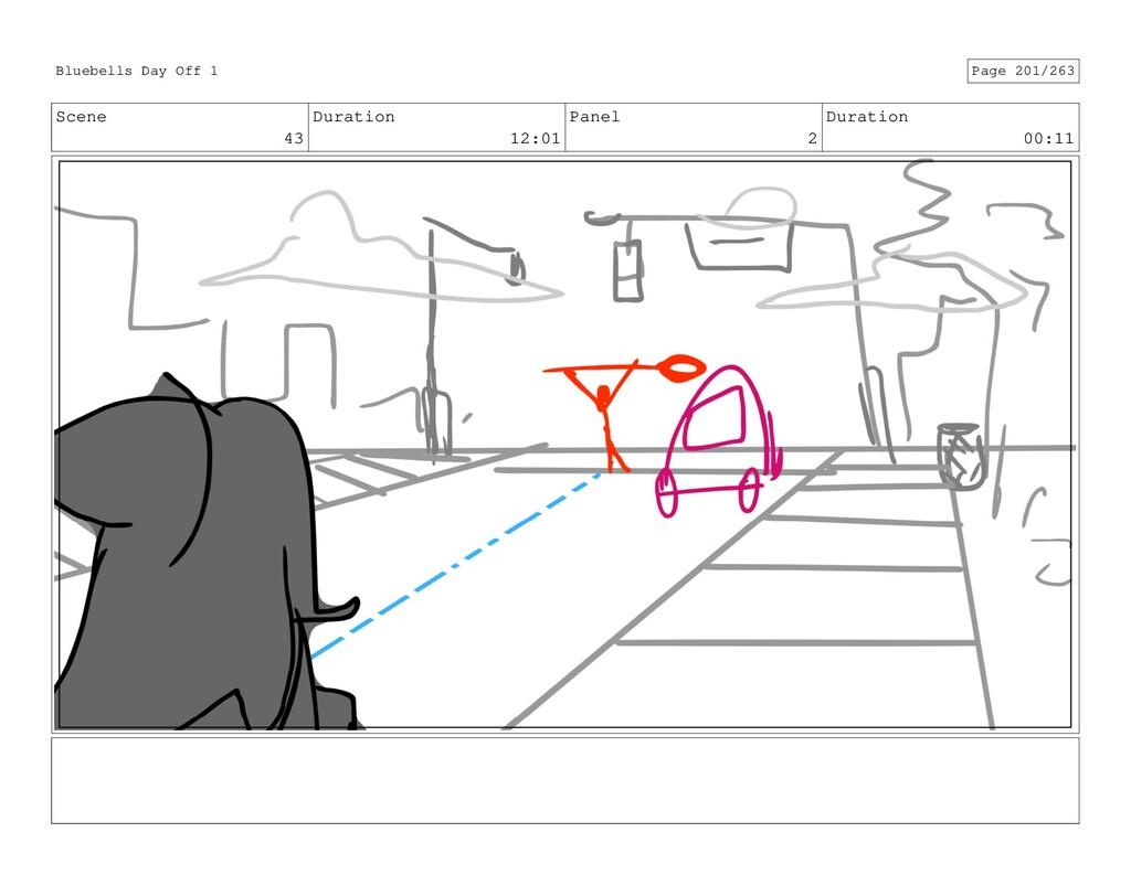 Scene 43 Duration 12:01 Panel 2 Duration 00:11 ...