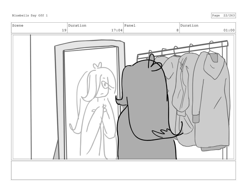 Scene 19 Duration 17:04 Panel 8 Duration 01:00 ...