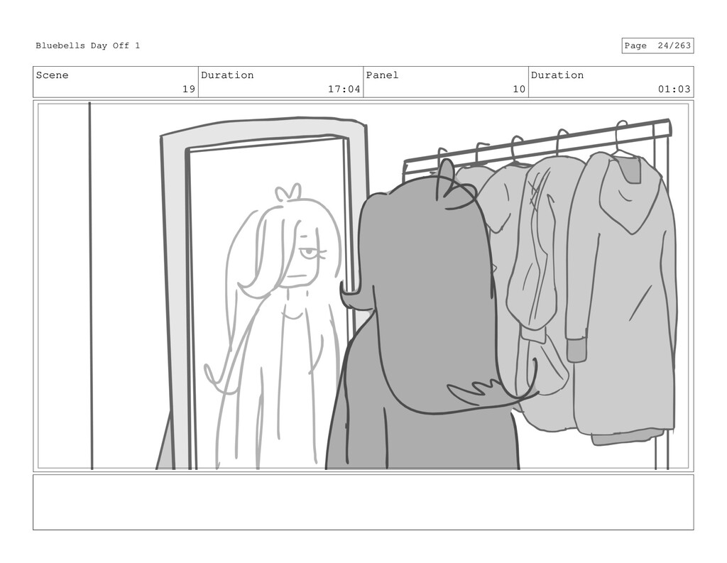 Scene 19 Duration 17:04 Panel 10 Duration 01:03...