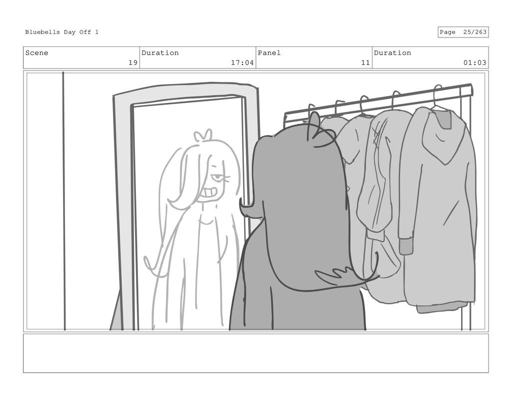 Scene 19 Duration 17:04 Panel 11 Duration 01:03...