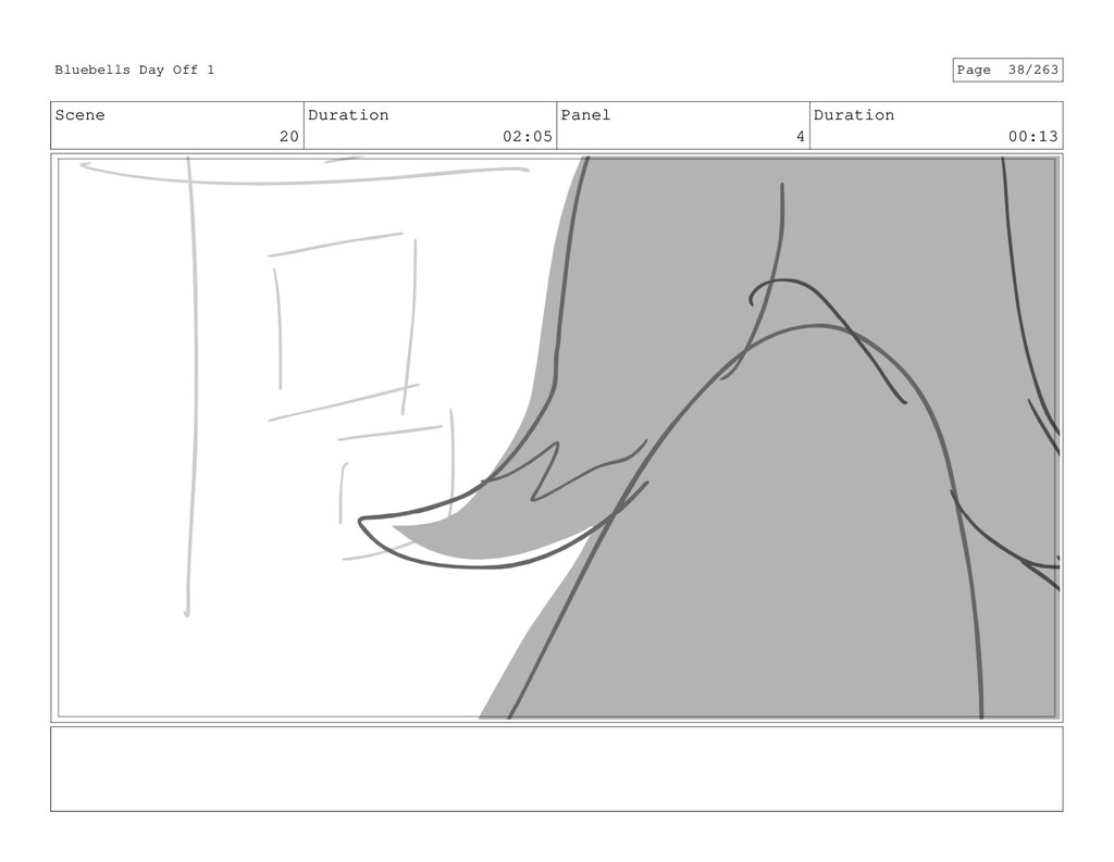 Scene 20 Duration 02:05 Panel 4 Duration 00:13 ...