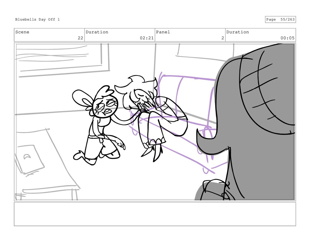 Scene 22 Duration 02:21 Panel 2 Duration 00:05 ...
