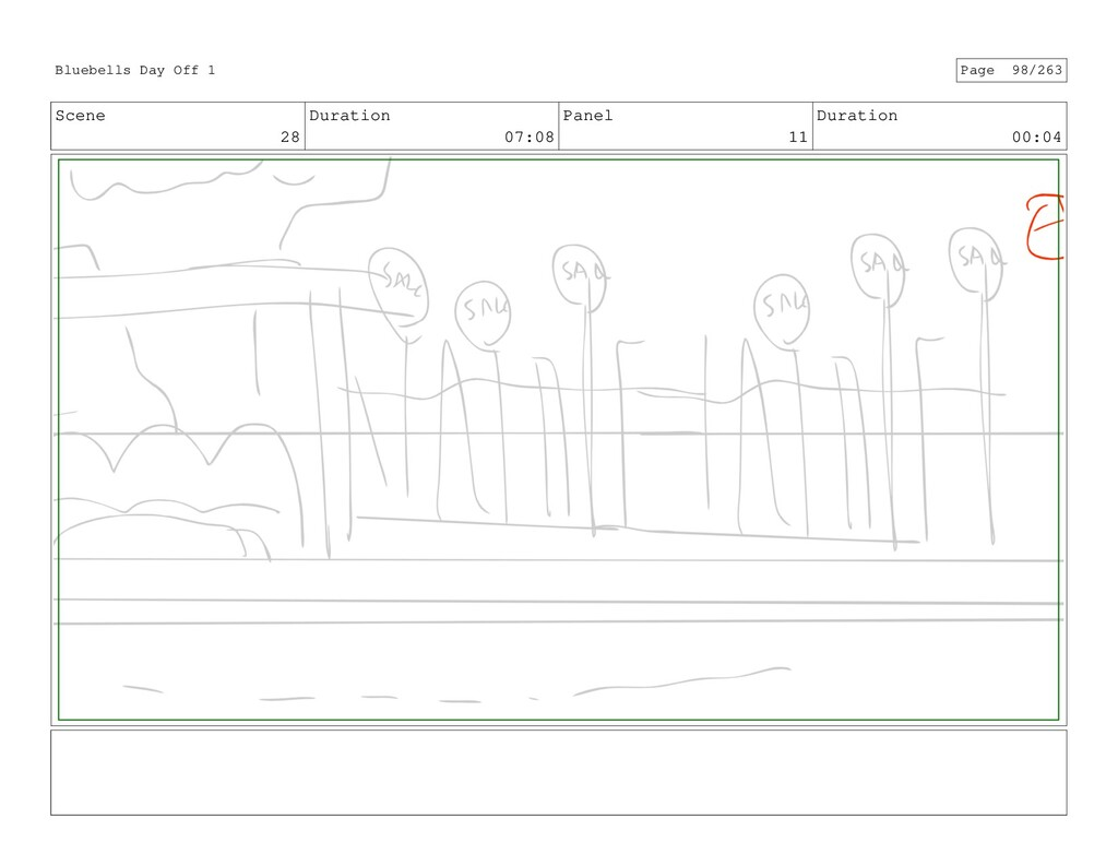 Scene 28 Duration 07:08 Panel 11 Duration 00:04...