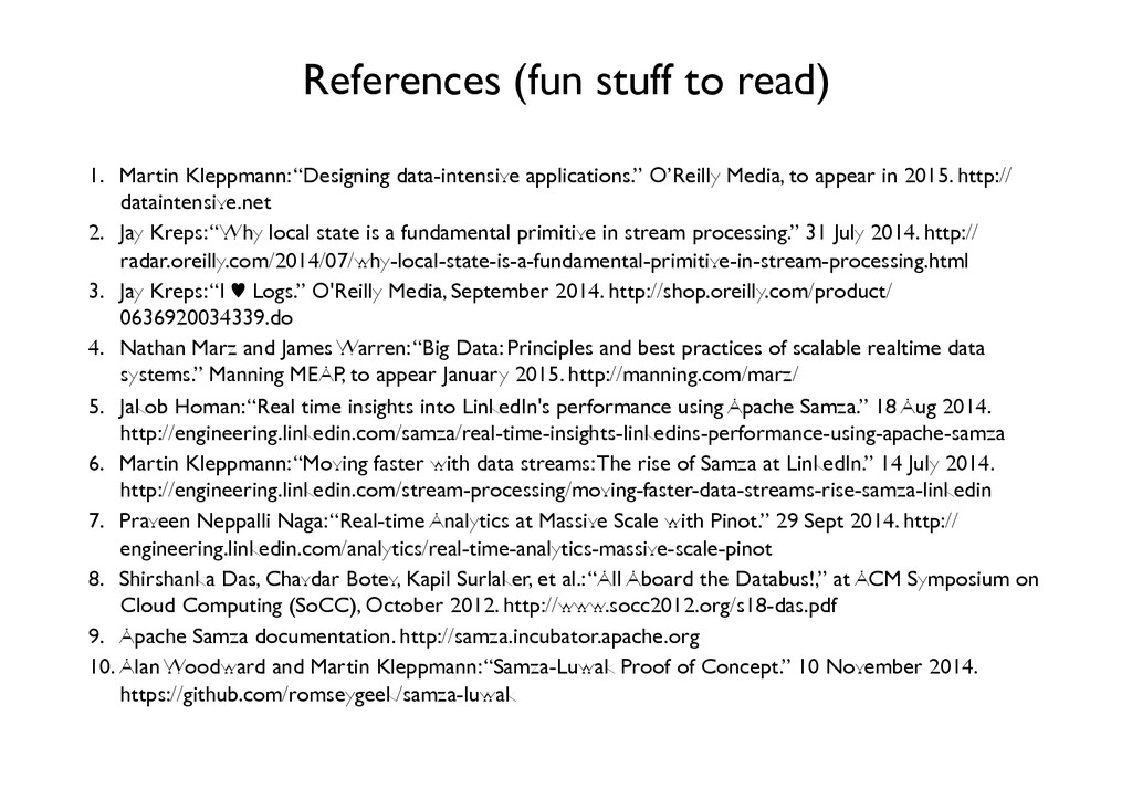 References (fun stuff to read)	 
