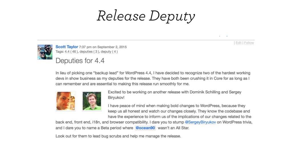 Release Deputy