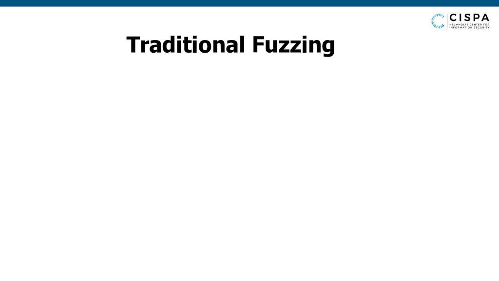 Traditional Fuzzing Program