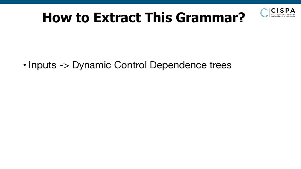 How to Extract This Grammar? • Inputs -> Dynami...