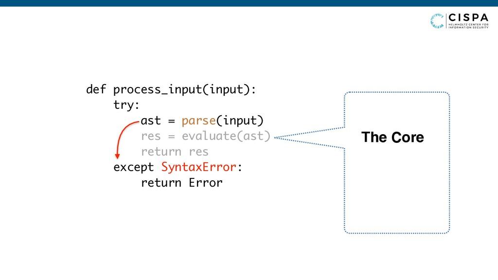 def process_input(input): try: ast = parse(inpu...