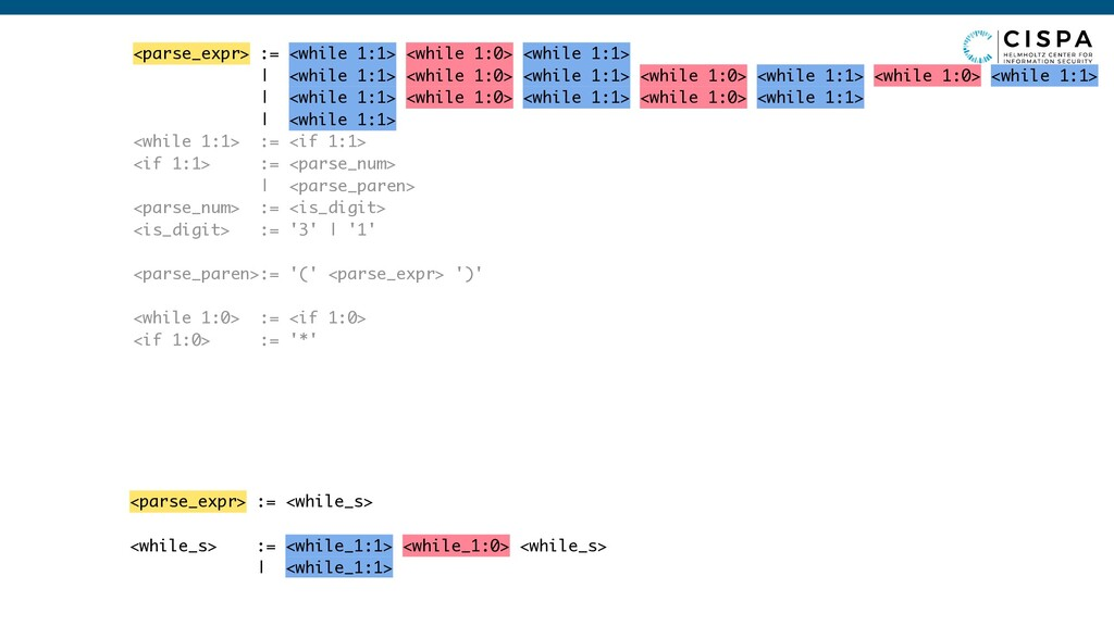 <parse_expr> := <while_s> <while_s> := <while_1...