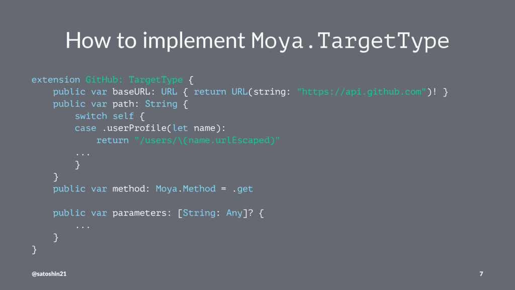 How to implement Moya.TargetType extension GitH...