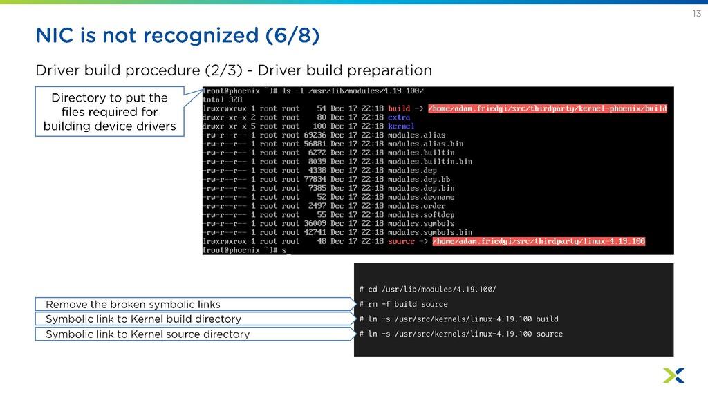 # cd /usr/lib/modules/4.19.100/ # rm -f build s...