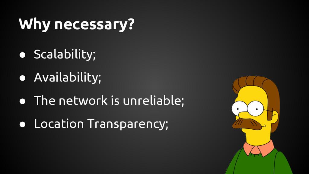 Why necessary? ● Scalability; ● Availability; ●...