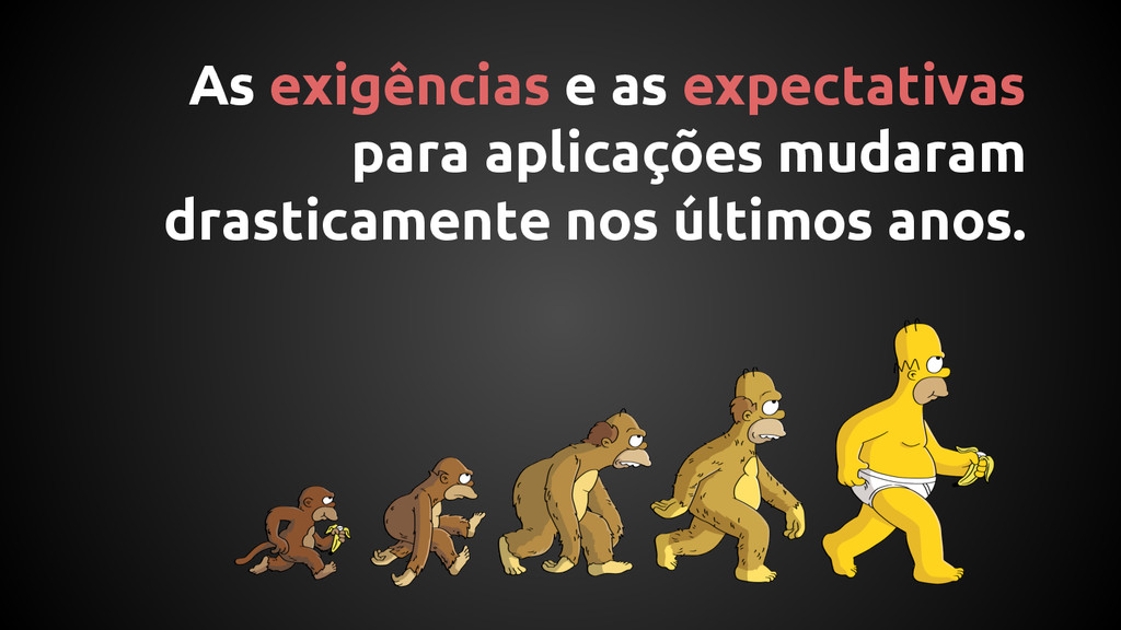 As exigências e as expectativas para aplicações...