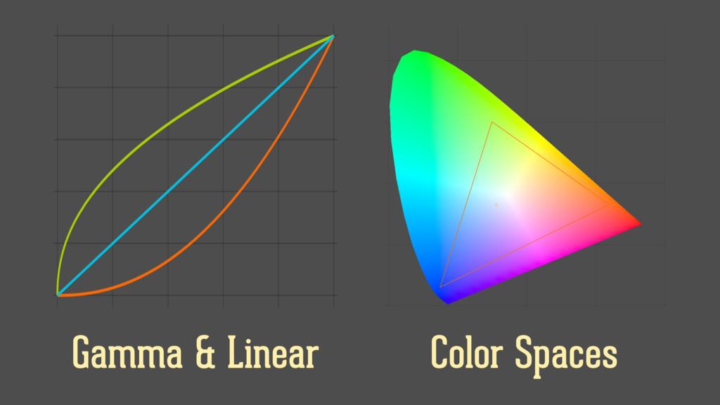 Color Spaces Gamma & Linear