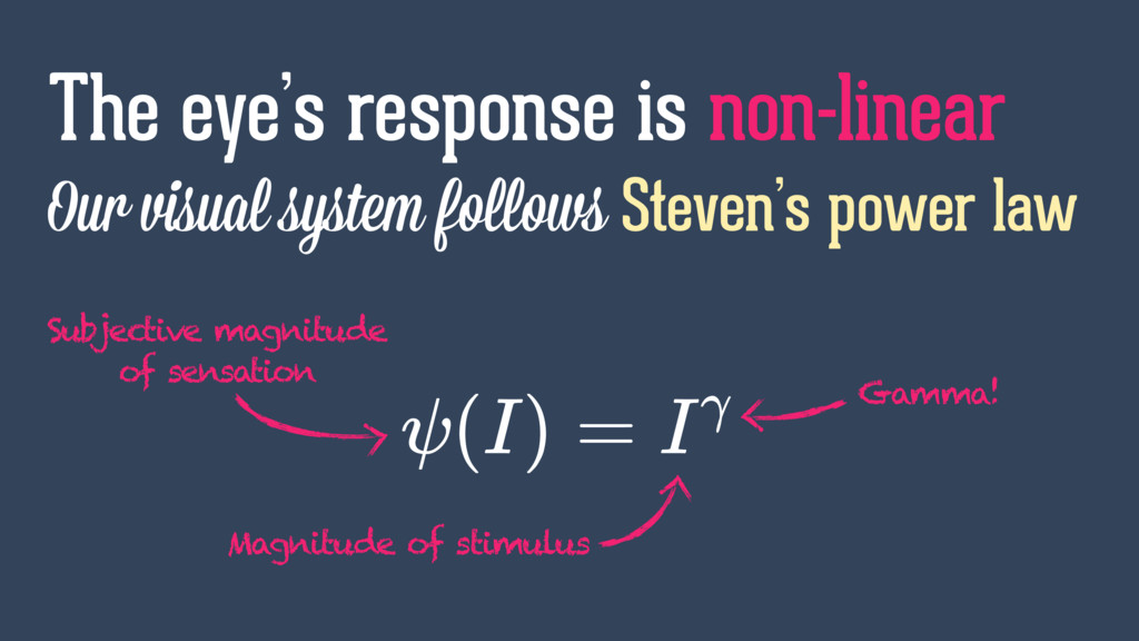 Our visual system follows Steven's power law Th...