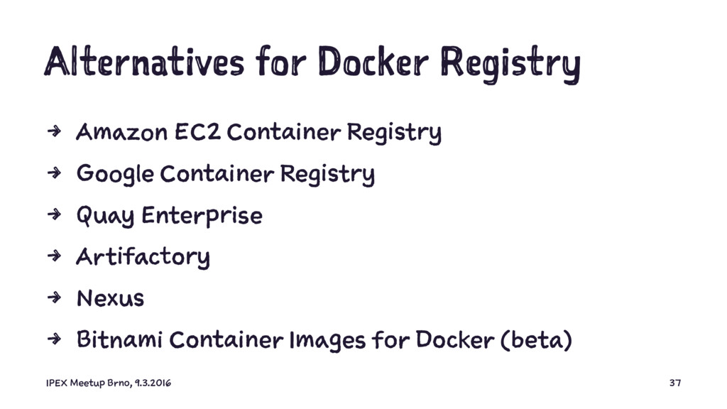 Alternatives for Docker Registry 4 Amazon EC2 C...