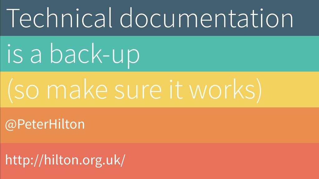 @PeterHilton http://hilton.org.uk/ Technical do...