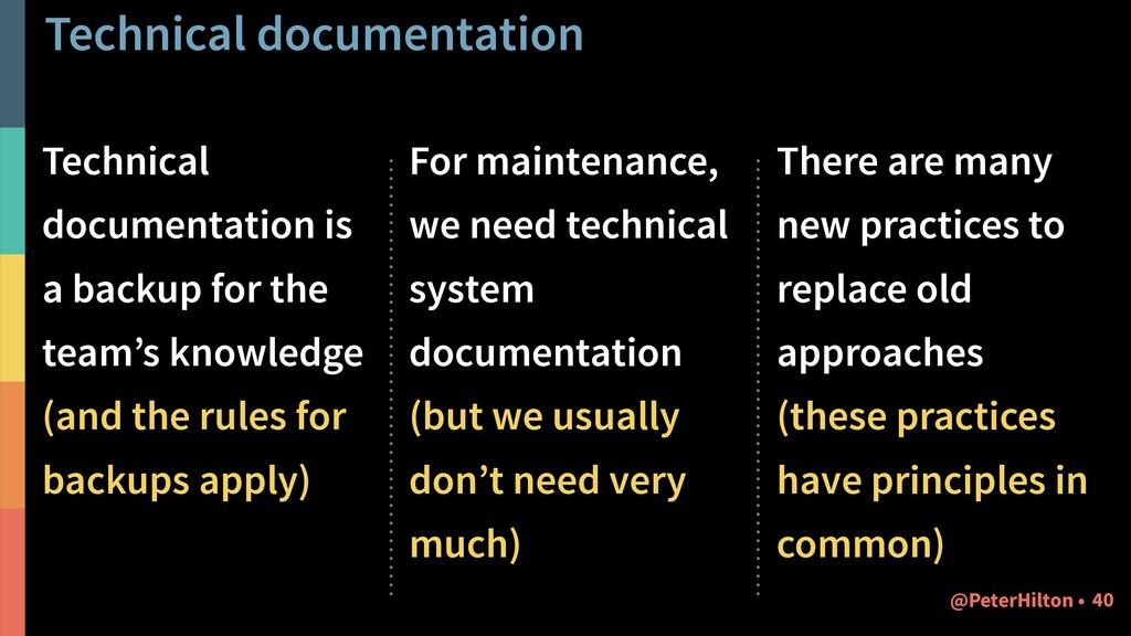 Technical documentation Technical documentation...