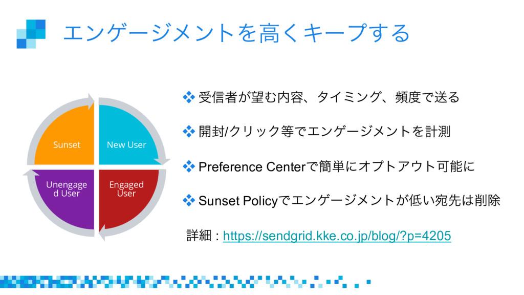 ΤϯήʔδϝϯτΛߴ͘Ωʔϓ͢Δ New User Engaged User Unengage...