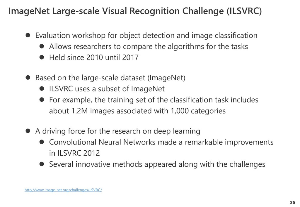 36 ImageNet Large-scale Visual Recognition Chal...