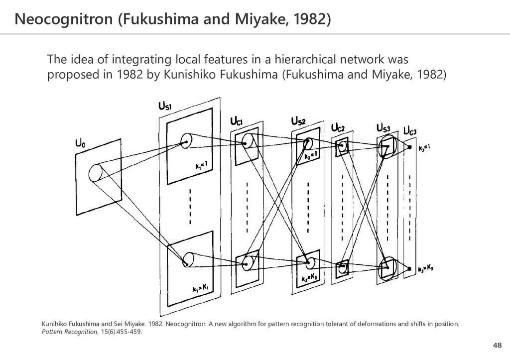 Neocognitron (Fukushima and Miyake, 1982) 48 Th...