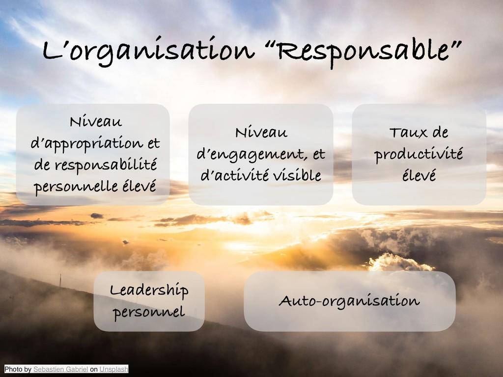 """L'organisation """"Responsable"""" Niveau d'appropria..."""