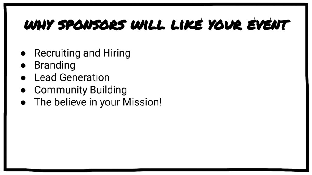 why sponsors will like your event ● Recruiting ...