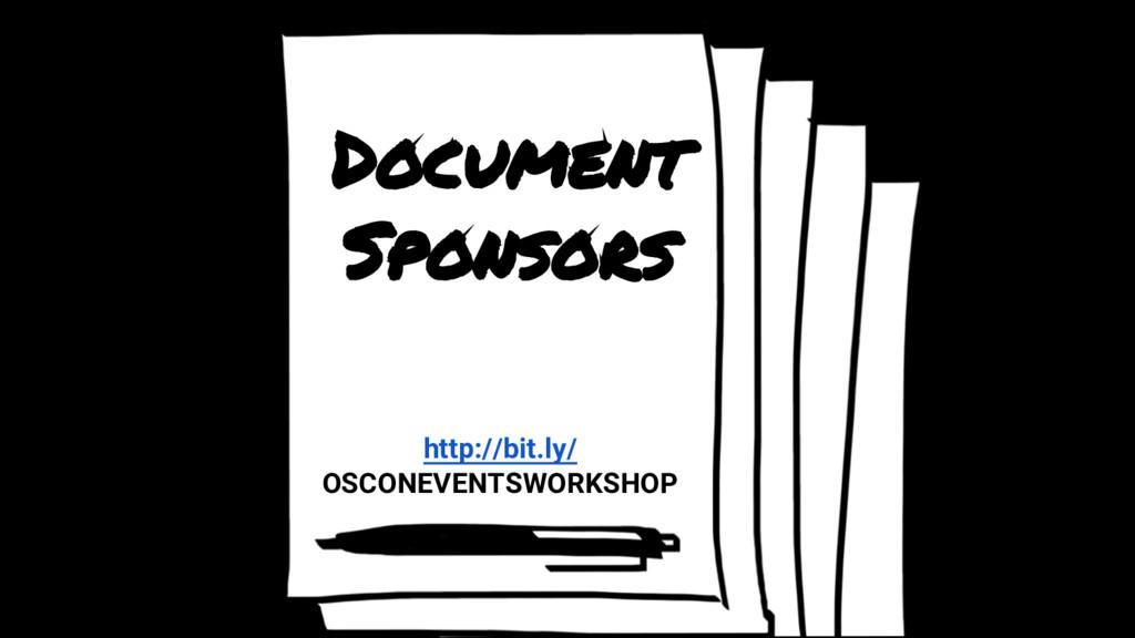 Document Sponsors http://bit.ly/ OSCONEVENTSWOR...