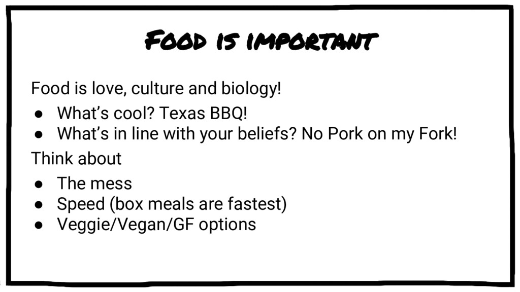 Food is important Food is love, culture and bio...